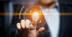 fingerprint scree futuristic